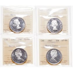 1962, 1965. Both ICCS Proof-Like-66. Heavy Cameo; 1963. ICCS Proof-Lik….