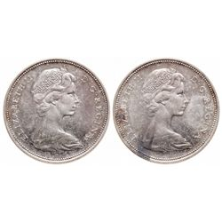 1965. Type III. Proof-Like-64 or better. Lot of two (2) coins, both brill….