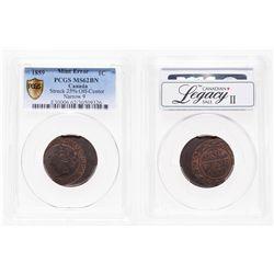 Mint Error - 1 Cent. 1859. PCGS MS-62 Brown.