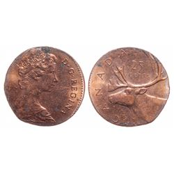 25 Cents. No Date. Struck on a small foreign planchet. 2.0 grams.