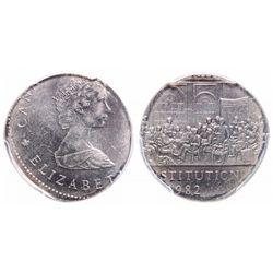 Mint Error - 1 Dollar. 1982. PCGS AU-58.