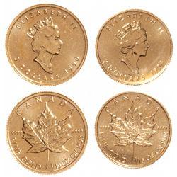 $2.00. 1994. (1/20 oz). Bent; $5.00. 1990. (1/10 oz). Both in mint plio….