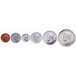 1952 Specimen Set. Cent through Dollar. A Gem set, all NGC graded. Cent.….