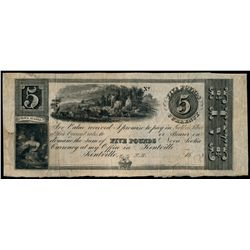 J.D. HARRIS. Kentville, N.S. 18--. A Remainder. Five Pounds. NS45-10-0….