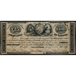 BROCKVILLE. 25 Pounds. ($100.00). Sept. 4, 1851. MU-1. No. 490. Pen-Can….