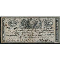BROCKVILLE. 25 Pounds. ($100.00). Dec. 27, 1850. MU-1. No. 121. Pen-Can….
