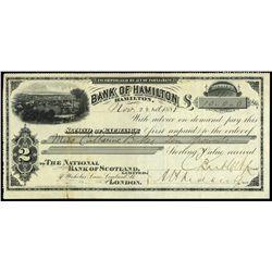 BANK OF HAMILTON. £10. 1888.