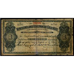 NEWFOUNDLAND GOVERNMENT CASH NOTE. $1.00. NF-5f. No. 31183. About Very….