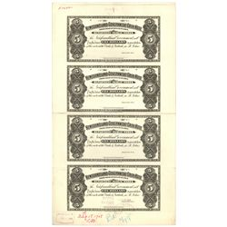 NEWFOUNDLAND GOVERNMENT CASH NOTE. $5.00. 1901-1909. NF-6P. An Uncut Sh….