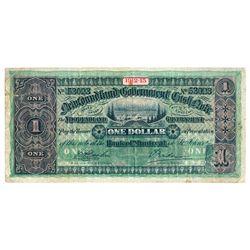 NEWFOUNDLAND GOVERNMENT CASH NOTE. $1.00. 1912-13. NF-9c. No. 53023. F….