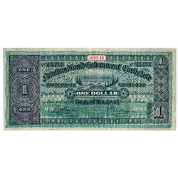 NEWFOUNDLAND GOVERNMENT CASH NOTE. $1.00. 1913-14. NF-9d. No. 35474. A….