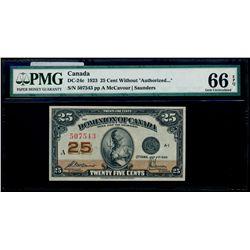 25 Cents. 1923. DC-24c. PMG GUNC-66 EPQ.