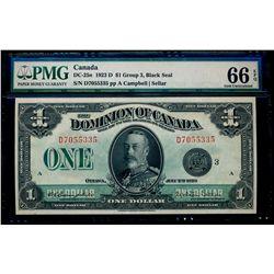 $1.00. 1923. DC-25n. PMG GUNC-66 EPQ.