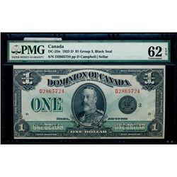 $1.00. 1923. DC-25n. PMG UNC-62 EPQ.