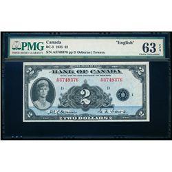 $2.00. 1935. BC-3. PMG CUNC-63 EPQ.