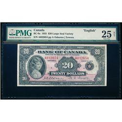 $20.00. 1935. BC-9a. PMG VF-25 Net.