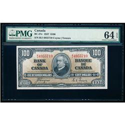 $100.00. 1937. BC-27c. PMG CUNC-64 EPQ.