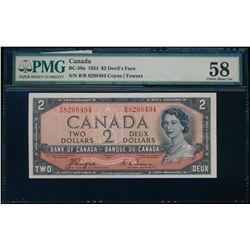 $2.00. 1954. BC-30a. PMG AU-58.