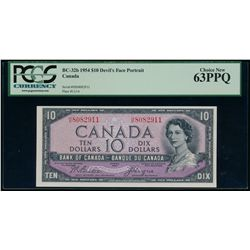 $10.00. 1954. BC-32b. PCGS CUNC-63 PPQ.