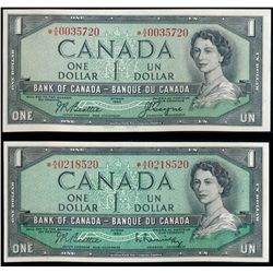 $1.00. 1954 Issue. BC-37aA. No. *A/A0035720. Beattie-Coyne. Unc; $1.0….