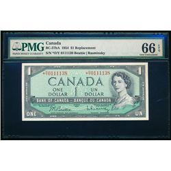 $1.00. 1954. BC-37bA. PMG GUNC-66 EPQ.
