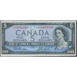 $5.00. 1954 Issue. BC-39a-iA. No. *R/C0004140. Beattie-Coyne. Modified….