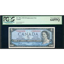 $5.00. 1954. BC-39bA. PCGS CUNC-64 EPQ.