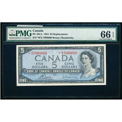 $5.00. 1954. BC-39cA. PMG GUNC-66 EPQ.