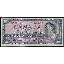 $10.00. 1954 Issue. .BC-40aA. No. *A/D0018655. Beattie-Coyne. Modified….