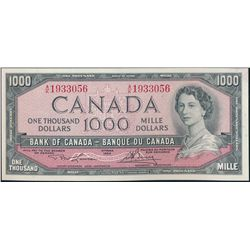 $1000.00. 1954 Issue. BC-44d. No. A/K1933056. Lawson-Bouey. Choice Unc….
