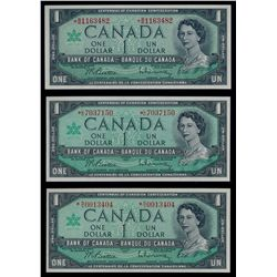Lot of three (3) 1967 $1 Replacement Notes.