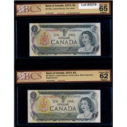 Lot of two (2) 1973 $1 Notes