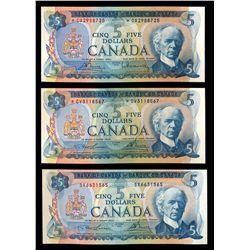 $5.00. 1972 Issue. BC-48aA. No. *CA2988725. Bouey-Rasminsky. Unc; $5.….