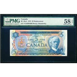 $5.00. 1972. BC-48aA. PMG AU-58 EPQ.