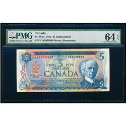 $5.00. 1972. BC-48aA. PMG CUNC-64 EPQ.