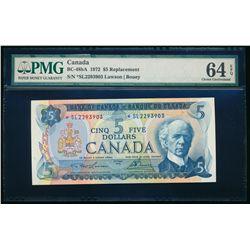 $5.00. 1972. BC-48bA. PMG CUNC-64 EPQ.