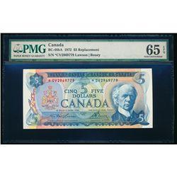 $5.00. 1972. BC-48bA. PMG GUNC-65 EPQ.