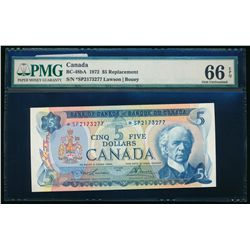 $5.00. 1972. BC-48bA. PMG GUNC-66 EPQ.