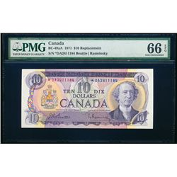 $10.00. 1971. BC-49aA. PMG GUNC-66 EPQ.