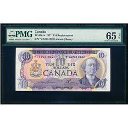 $10.00. 1971. BC-49cA. PMG GUNC-65 EPQ.