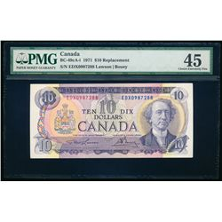 $10.00. 1971. BC-49cA-i. PMG EF-45.