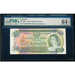 $20.00. 1969. BC-50aA. PMG CUNC-64 EPQ.