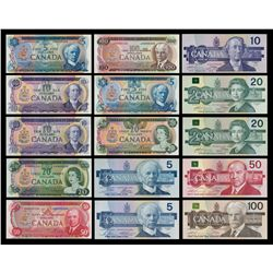 A Complete Set of Multicolour and Bird Series Matched Low Serial Number Notes, #0000226.