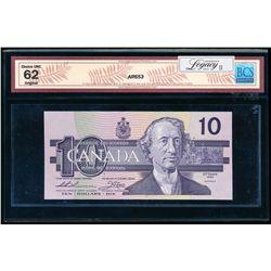 $10.00. 1989. BC-57a. BCS UNC-62 Original.
