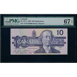 $10.00. 1989. BC-57bA. PMG GUNC-67 EPQ.