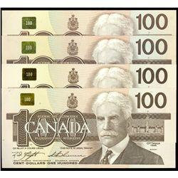 $100.00. 1988 Issue. BC-60a. No. AJN0000520. Thiessen-Crow, Unc; BC-6….