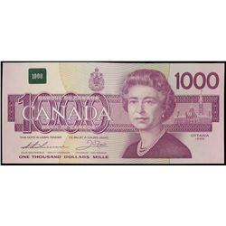 $1000.00. 1988 Issue. BC-61a. No. EKA0000520. Thiessen-Crow. Unc.