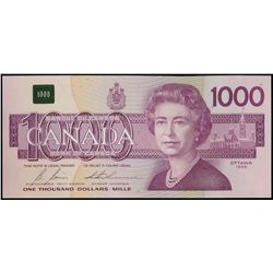 $1000.00. 1988 Issue. BC-61b. No. EKA5872974. Bonin-Thiessen. Unc.