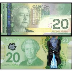 Lot of two (2) Bank of Canada notes with low serial numbers.