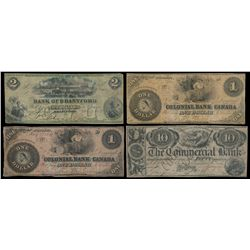 THE BANK OF BRANTFORD. $2.00. Nov. 1, 1859. Engraved Date. Signed S.P. S….
